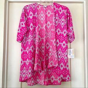 LuLaRoe Bianka Hot Pink Aztec NWT